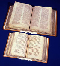 Great and Little Domesday books surviving today in the National Archive at Kew